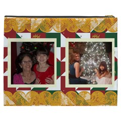 Christmas Quilt Cosmetic Bag (xxxl) By Kim Blair   Cosmetic Bag (xxxl)   0vehlbmaw0uk   Www Artscow Com Back