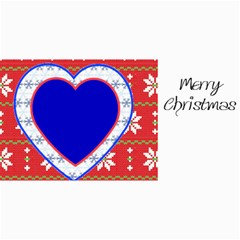10 Christmas Cards 3 (hearts) Your Photo,text By Riksu   4  X 8  Photo Cards   Sr9fbfbsdb1k   Www Artscow Com 8 x4 Photo Card - 1