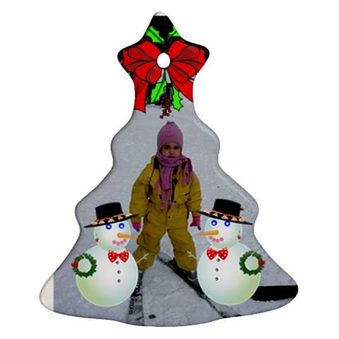 Presi By Maria Georgieva   Ornament (christmas Tree)    K9o9sx3b2pw7   Www Artscow Com Front