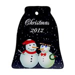 Christmas snow bell ornament 2 sides - Bell Ornament (Two Sides)