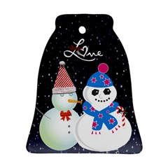 Christmas Snow Bell Ornament 2 Sides By Kimmy   Bell Ornament (two Sides)   Vepw3i6b1rag   Www Artscow Com Back