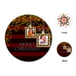 merry christmas - Playing Cards (Round)