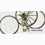 Happy Holidays 8x4 photo card - 4  x 8  Photo Cards