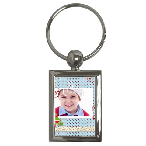 Merry Christmas By Jacob   Key Chain (rectangle)   6wn1trk00ssv   Www Artscow Com Front