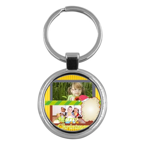 Merry Christmas By Mac Book   Key Chain (round)   Yk3njdkmeuf0   Www Artscow Com Front