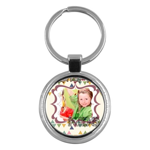 Merry Christmas By Mac Book   Key Chain (round)   D6us5sfzakxy   Www Artscow Com Front