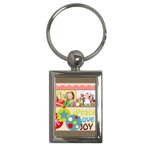 Merry Christmas By Mac Book   Key Chain (rectangle)   Hez4ap7cn0rq   Www Artscow Com Front