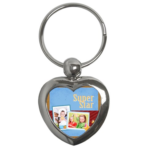Merry Christmas By Mac Book   Key Chain (heart)   E6jyaftaumg3   Www Artscow Com Front