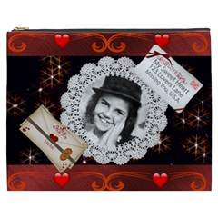 Sweetheart Cosmetic Bag (xxxl) By Kim Blair   Cosmetic Bag (xxxl)   Uuy2fv26a9g4   Www Artscow Com Front