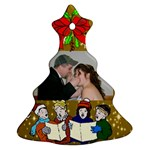 Carolers tree ornament two sides - Christmas Tree Ornament (Two Sides)