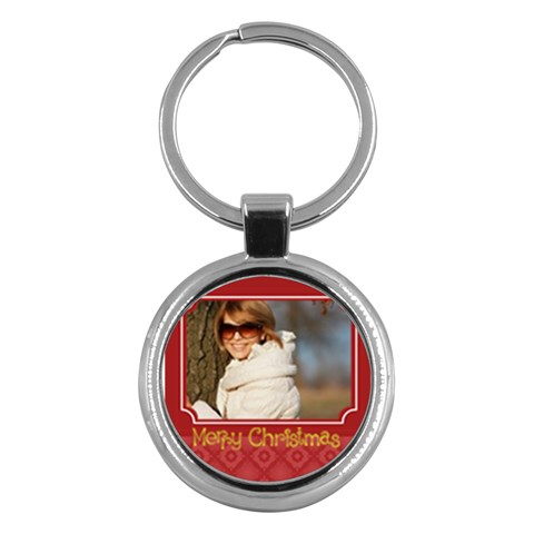 Merry Christmas By May   Key Chain (round)   9rkw4gzy2me7   Www Artscow Com Front