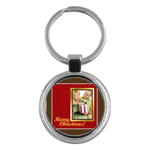 Merry Christmas By May   Key Chain (round)   7kjnndw1bv8k   Www Artscow Com Front