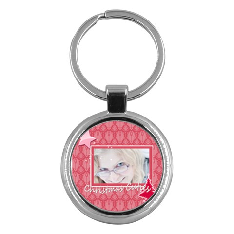 Merry Christmas By May   Key Chain (round)   0x5kecq49fc7   Www Artscow Com Front