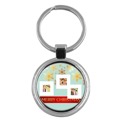 Merry Christmas By May   Key Chain (round)   7403dqdqge3o   Www Artscow Com Front