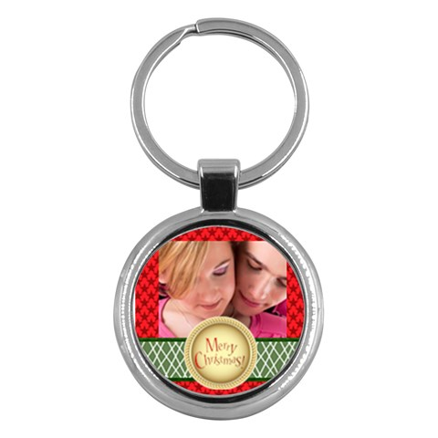 Merry Christmas By May   Key Chain (round)   Dt6l3b71aafd   Www Artscow Com Front