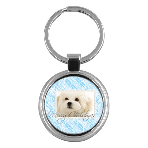 Merry Christmas By May   Key Chain (round)   Uqmb0t2dobv4   Www Artscow Com Front