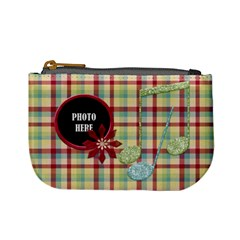 Holiday Melodies Coin Bag 2 By Lisa Minor   Mini Coin Purse   G32o831c76ar   Www Artscow Com Front