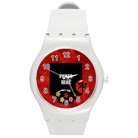 The Orient Plastic Watch 1 By Lisa Minor   Round Plastic Sport Watch (m)   Oj10iwxapici   Www Artscow Com Front