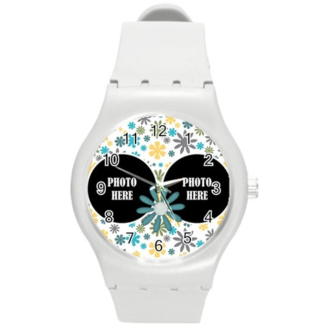 August 365 Plastic Watch 1 By Lisa Minor   Round Plastic Sport Watch (m)   45078mvzasz4   Www Artscow Com Front