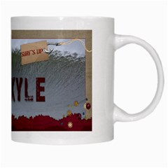 White Mug Surf s Up By Pat Kirby   White Mug   4svhy2jk5ji1   Www Artscow Com Right