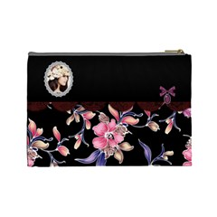 Elegance Black Cosmetic Bag (large)  By Joanne5   Cosmetic Bag (large)   4v2t7ns1e78u   Www Artscow Com Back