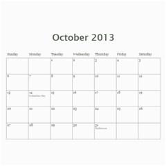 Loy Cal 2013 By Jj   Wall Calendar 11  X 8 5  (12 Months)   Ikq7366b4h3w   Www Artscow Com Oct 2013