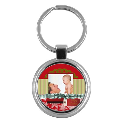 Merry Christmas By Joely   Key Chain (round)   B7s8fnnvw9vc   Www Artscow Com Front