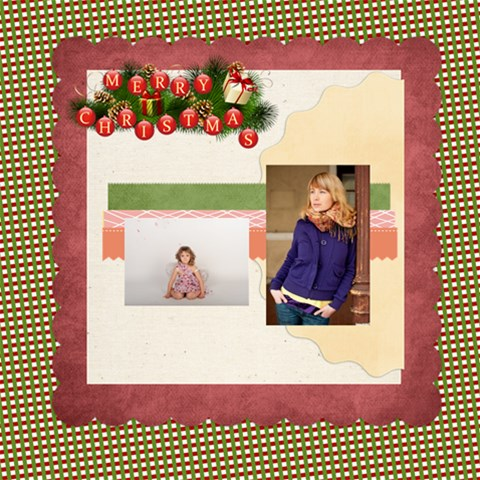 Merry Christmas By Anita   Scrapbook Page 8  X 8    Dys4uaso29av   Www Artscow Com 8 x8 Scrapbook Page - 1