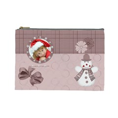Christmas Cosmetic Bag (large) By Joanne5   Cosmetic Bag (large)   5hxi1ngj303p   Www Artscow Com Front