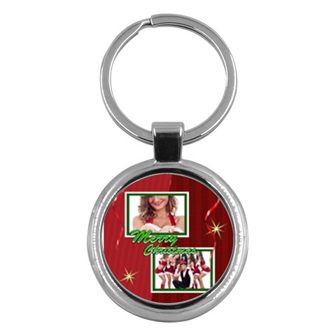 Merry Christmas By Clince   Key Chain (round)   Cgahplb4pbqx   Www Artscow Com Front