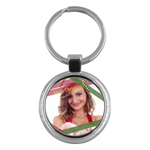 Merry Christmas By Clince   Key Chain (round)   1bal9nlht7v9   Www Artscow Com Front