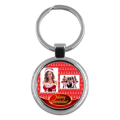 Merry Christmas By Clince   Key Chain (round)   Fhl1mp76u5n5   Www Artscow Com Front