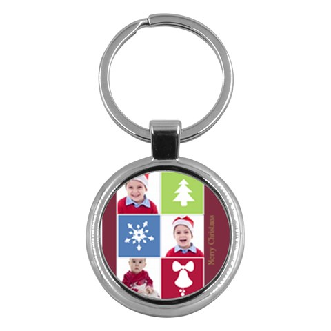 Merry Christmas By Clince   Key Chain (round)   Ga6sd5w0wtiq   Www Artscow Com Front
