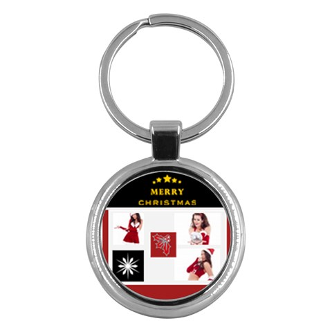 Merry Christmas By Clince   Key Chain (round)   Nad7ocsi38s5   Www Artscow Com Front