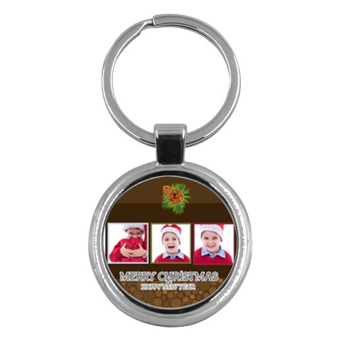 Merry Christmas By Clince   Key Chain (round)   Jrzucsxd9box   Www Artscow Com Front