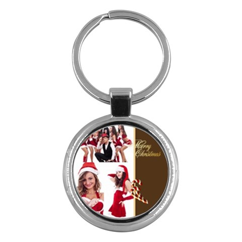 Merry Christmas By Clince   Key Chain (round)   Xil9dt2z36og   Www Artscow Com Front