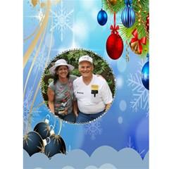 Blue Christmas Ornament Christmas Card 4 5 X 7 By Kim Blair   Greeting Card 4 5  X 6    Aq8zo4o9mog0   Www Artscow Com Front Inside