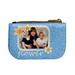 Flower By Joely   Mini Coin Purse   1g8peovbo3yg   Www Artscow Com Back