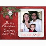 7x5 Photo Greeting Christmas New Year - 5  x 7  Photo Cards