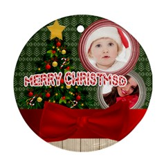 Merry Christmas By Betty   Round Ornament (two Sides)   0w6dlu1968gc   Www Artscow Com Front
