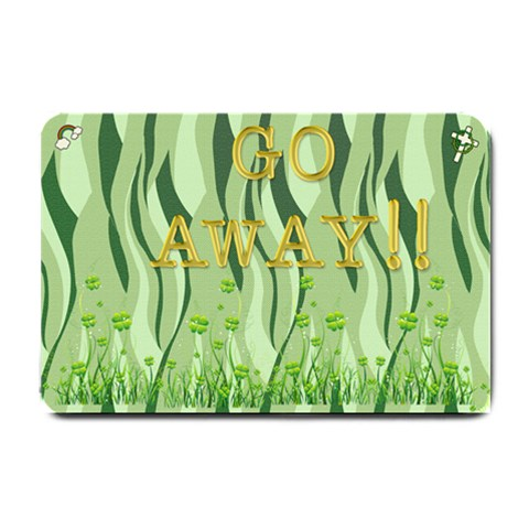 Go Away By Jessie   Small Doormat   0e3z94e31lhr   Www Artscow Com 24 x16 Door Mat - 1