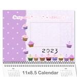 Cupcake Calendar 2015 - Wall Calendar 11  x 8.5  (12-Months)
