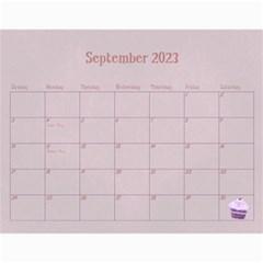 Cupcake Calendar 2015 By Claire Mcallen   Wall Calendar 11  X 8 5  (12 Months)   Ane3sksr9yle   Www Artscow Com Sep 2015