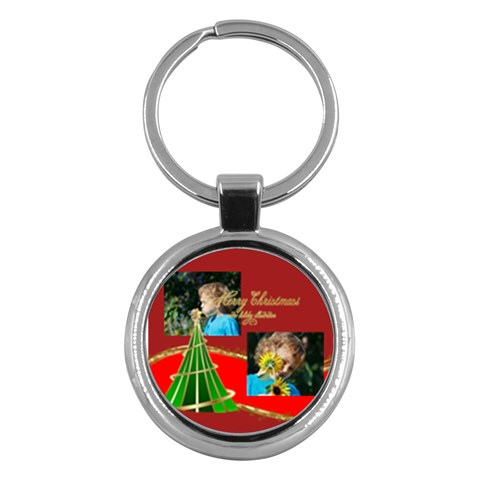 Merry Christmas By M Jan   Key Chain (round)   Ubd4ua7n9frg   Www Artscow Com Front