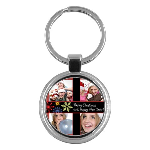 Merry Christmas By M Jan   Key Chain (round)   Elzl14mabpbq   Www Artscow Com Front