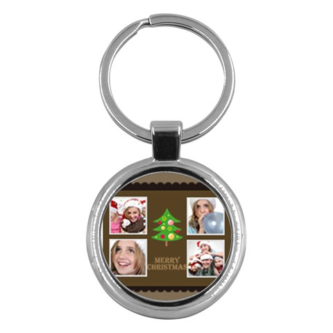 Merry Christmas By M Jan   Key Chain (round)   Xp2jmu078olo   Www Artscow Com Front