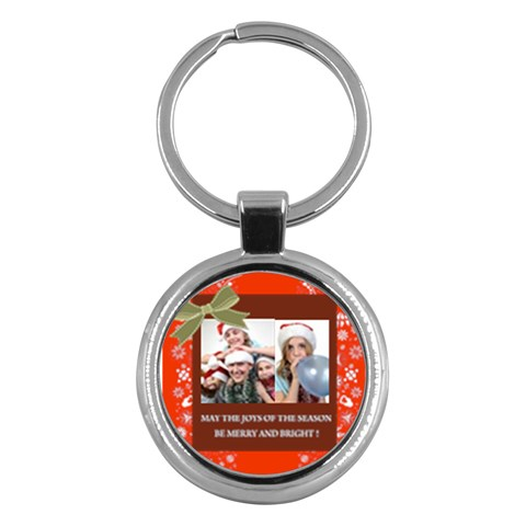 Merry Christmas By M Jan   Key Chain (round)   L1v0wuzoy7jf   Www Artscow Com Front