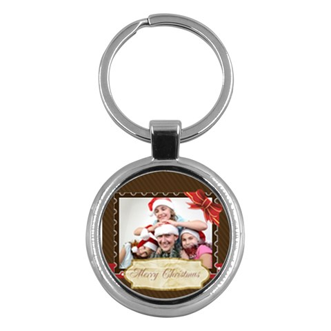 Merry Christmas By M Jan   Key Chain (round)   37xy5shejgfy   Www Artscow Com Front