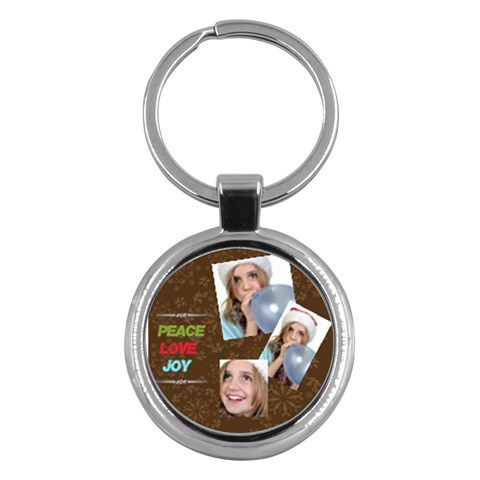 Merry Christmas By M Jan   Key Chain (round)   Etvi8xnq3joa   Www Artscow Com Front