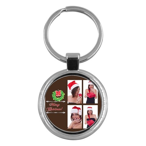 Merry Christmas By M Jan   Key Chain (round)   Nc2ogjzbvoxt   Www Artscow Com Front